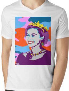 Queen Elizabeth Mens V-Neck T-Shirt