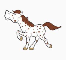 Appaloosa Red Roan Spotted Horse Kids Tee