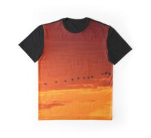 Geese at Sunset Graphic T-Shirt