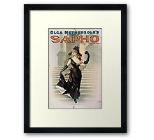 Performing Arts Posters Olga Nethersoles version of Sapho by Clyde Fitch 1340 Framed Print