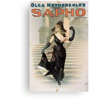 Performing Arts Posters Olga Nethersoles version of Sapho by Clyde Fitch 1340 Canvas Print
