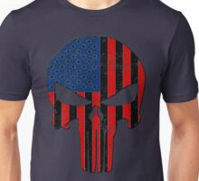 Red and Blue American Skull  Unisex T-Shirt