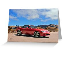 2004 Mazda Miata Roadster Greeting Card