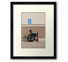 Handicapped Parking Framed Print