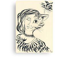 Nekomata. Princess cat design. Canvas Print