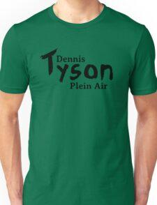 Dennis Tyson Plein Air Black Unisex T-Shirt