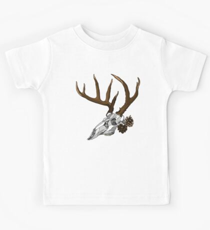 Whitetail Buck Skull Kids Tee