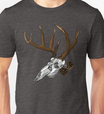 Whitetail Buck Skull Unisex T-Shirt