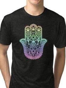 Rainbow Hamsa Tri-blend T-Shirt