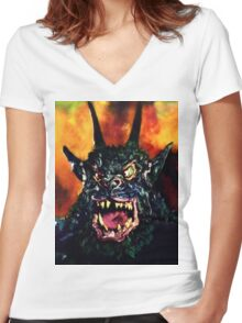 Curse of the Demon Women's Fitted V-Neck T-Shirt