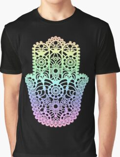 Rainbow Hamsa Graphic T-Shirt