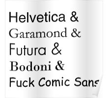 Typefaces Poster