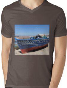 Blue woodboat Mens V-Neck T-Shirt