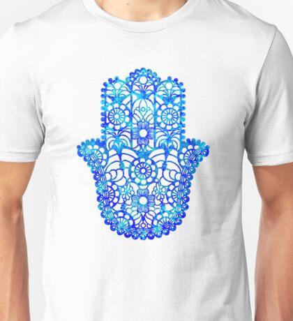 Blue Watercolor Hamsa Unisex T-Shirt