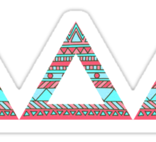 tri delta tribal print Sticker