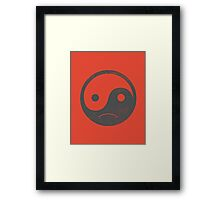 yin yang smiley Framed Print