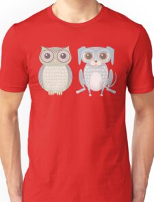 Cool Owl and Lanky Dog Unisex T-Shirt