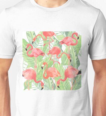 Flamingoes. Unisex T-Shirt