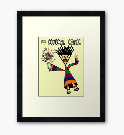The Conical Comic Framed Print