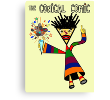 The Conical Comic Canvas Print