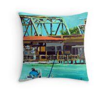 Last of the Carolina Swing Bridges Throw Pillow