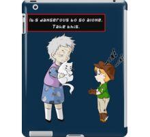 Take the cat! iPad Case/Skin