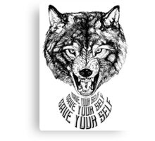 Save Your Self - Wolf Canvas Print