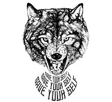Save Your Self - Wolf Photographic Print