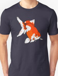 Red and White Fantail Goldfish Unisex T-Shirt