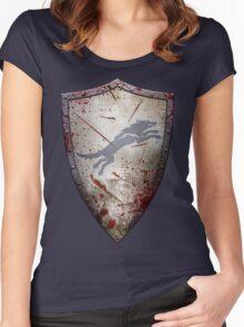 Stark Shield - Battle Damaged Women's Fitted Scoop T-Shirt