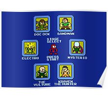 8-Bit Spider-Man Sinister Six Stage Select Poster