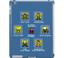 8-Bit Spider-Man Sinister Six Stage Select iPad Case/Skin
