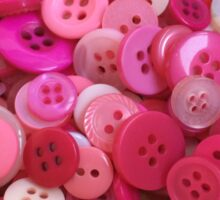 Bright pink assorted buttons Sticker