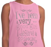 Love Spanking - fun funny erotic calm heart pink awesome girl humor, beautiful valentine Contrast Tank