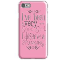 Love Spanking - fun funny erotic calm heart pink awesome girl humor, beautiful valentine iPhone Case/Skin