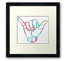 Hang Loose Colorful Abstract Art Framed Print