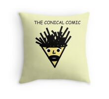 The Conical Comic (original) Throw Pillow