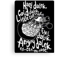 hard cold doctor who Canvas Print