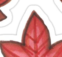Autumn Leaves - Red Set Sticker