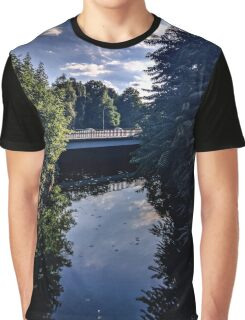 trippy river purple sky Graphic T-Shirt
