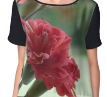 Flower red Chiffon Top