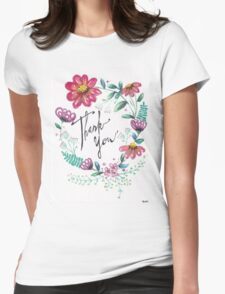 Thank You Womens Fitted T-Shirt