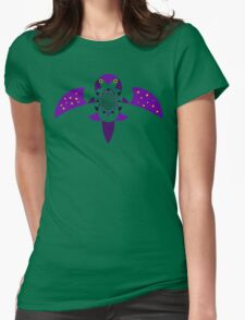 The Bird of Night Swoops in to Create Total Darkness Womens Fitted T-Shirt