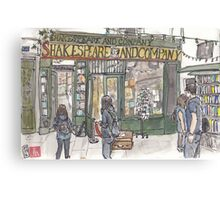 Shakespeare & Co. in Paris Canvas Print