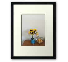 Sunflowers and oranges  Framed Print
