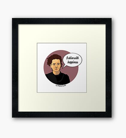 Funny science Marie Curie Framed Print