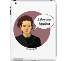 Funny science Marie Curie iPad Case/Skin
