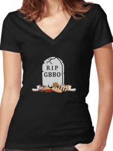 RIP GBBO Women's Fitted V-Neck T-Shirt
