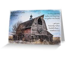 Matthew 6:26 (Old Barn & Birds) Greeting Card
