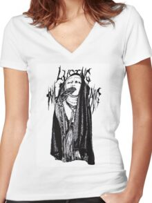 KYO Women's Fitted V-Neck T-Shirt